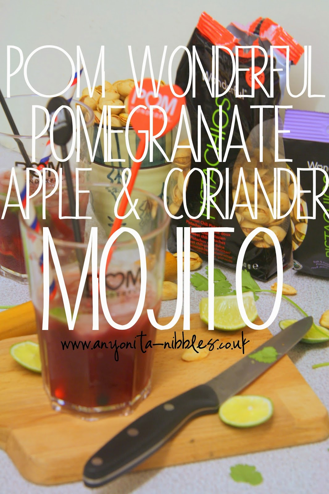Pomegranate, Apple & Coriander Mojito from Anyonita Nibbles
