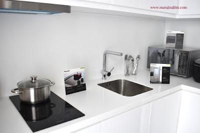 dapur kitchen set panasonic home type a dan b marketing gallery savasa deltamas cikarang opening ceremony nurul sufitri blogger rumah cluster