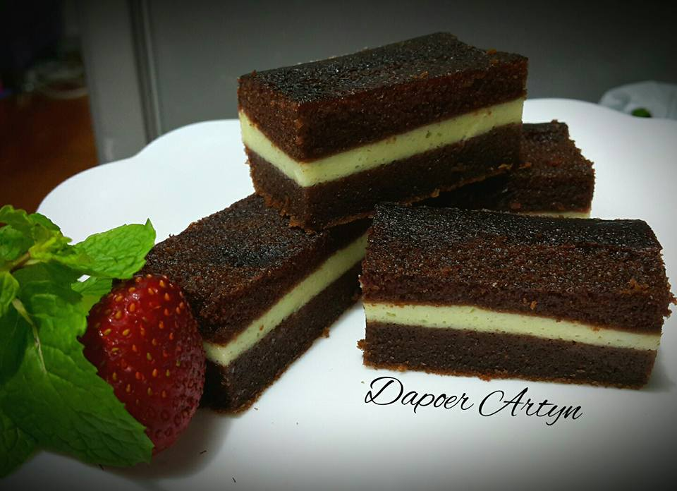 konsep  resep brownies kukus pandan lapis keju Resepi Kek Pisang Gula Hangus Enak dan Mudah