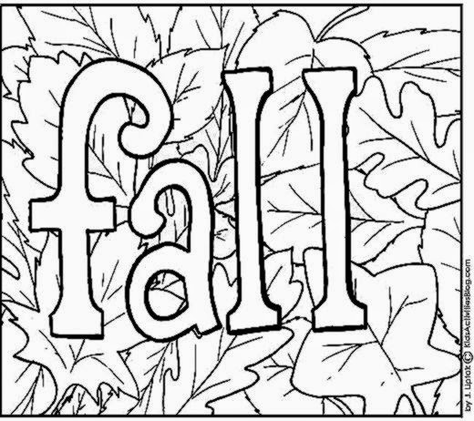 2 3 4. free fall coloring pages with full color guides. christian ...