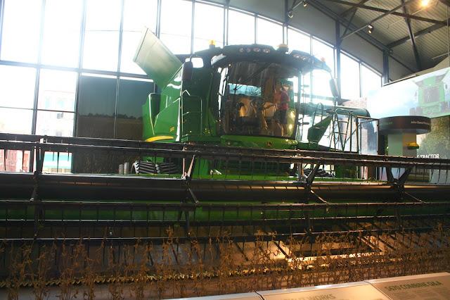 John Deere combine at John Deere Pavilion in Moline, Illinois