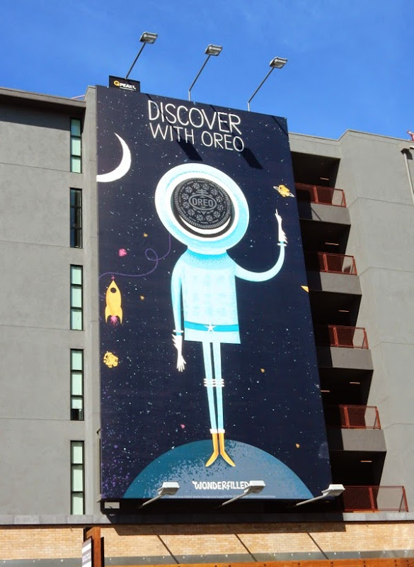 Discover with Oreo billboard