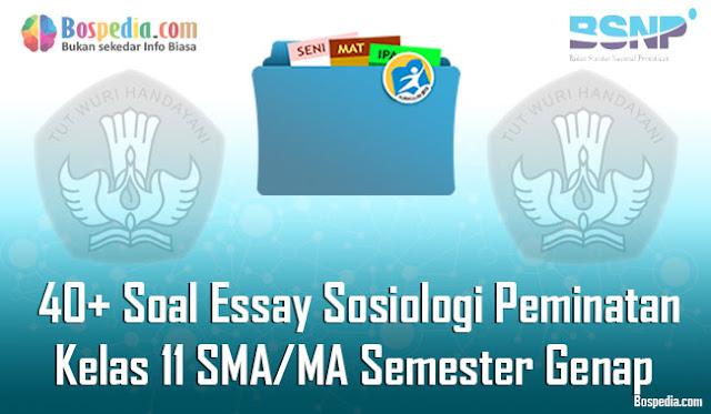 Contoh Soal Essay Sosiologi Peminatan Kelas  Komplit - 40+ Contoh Soal Essay Sosiologi Peminatan Kelas 11 SMA/MA Semester Genap Terbaru