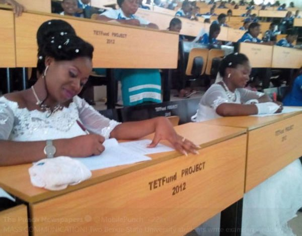 She Had No Option Than To Write Her Final Exam In Wedding Gown-Deborah and Dorcas