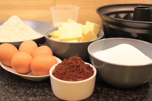 Rezept für schokoladigen Zebrakuchen