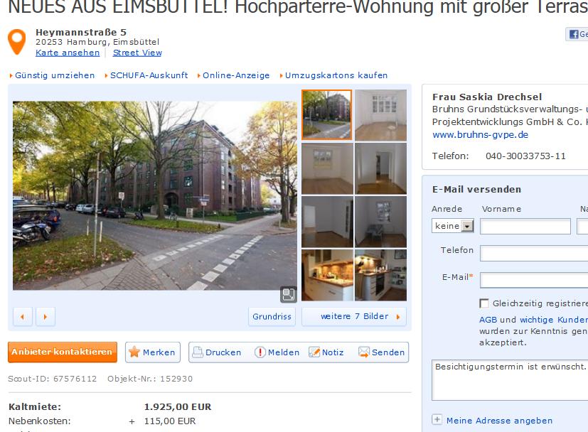 Wohnungsbetrug Immobilienscout