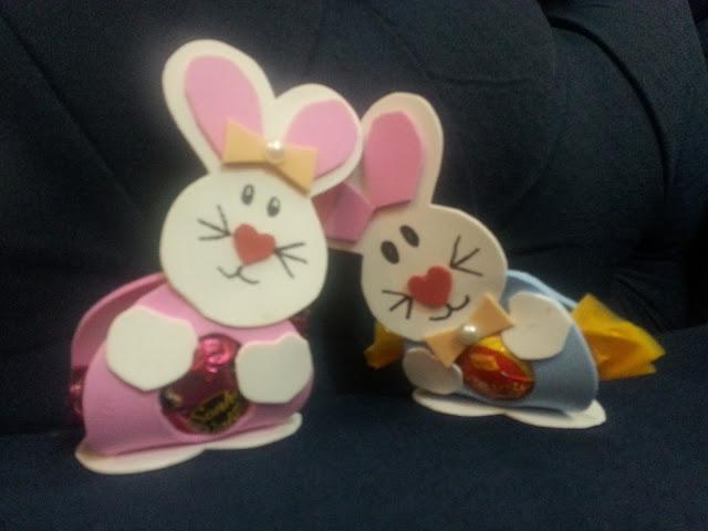Porta bombons DIY em forma de coelhinho para uma feliz páscoa!