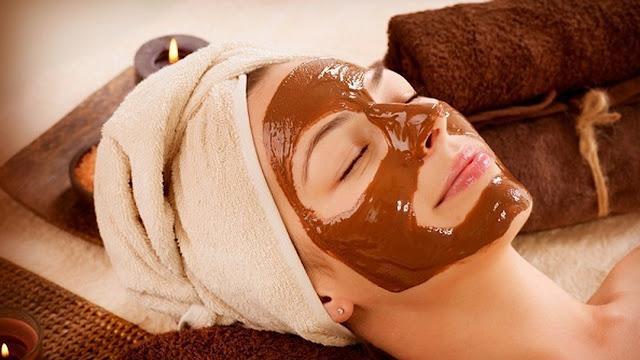 قناع الشوكولاته لتفتيح البشرة وشدالوجه و إزالة  تجاعيد الوجه