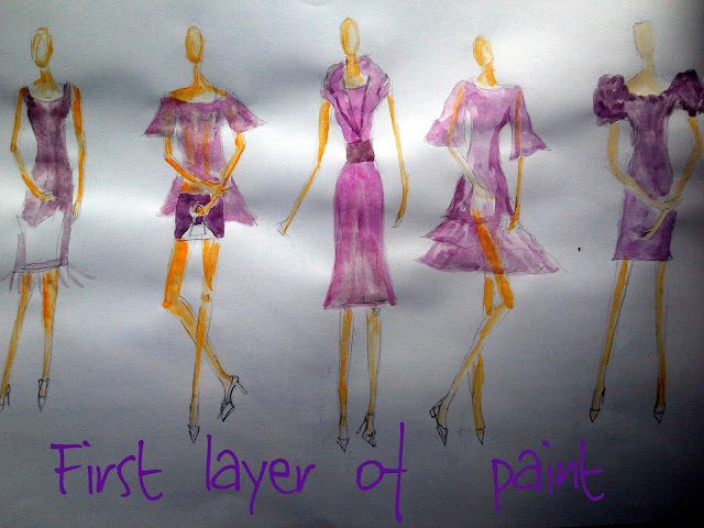 Ultra Violet Mini Spring Collection - #Fashion Illustrations of the Day