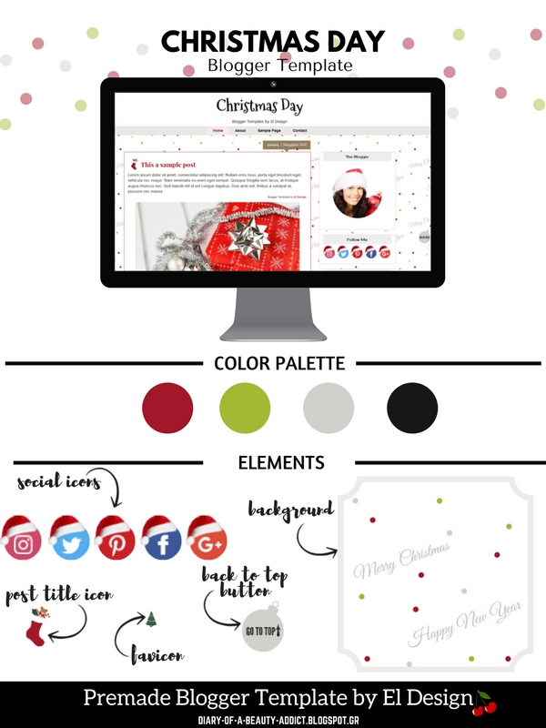 Christmas Premade Blogger Template