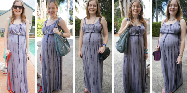 5 outfit ideas non maternity maxi dress in pregnancy | awayfromtheblue