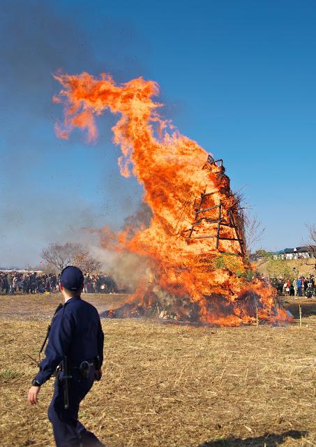 鎌田のどんど焼きの写真