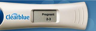 digital E. P. T. Pregnancy Test positive