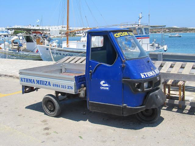 Three-wheeled utility vehicle in Greece