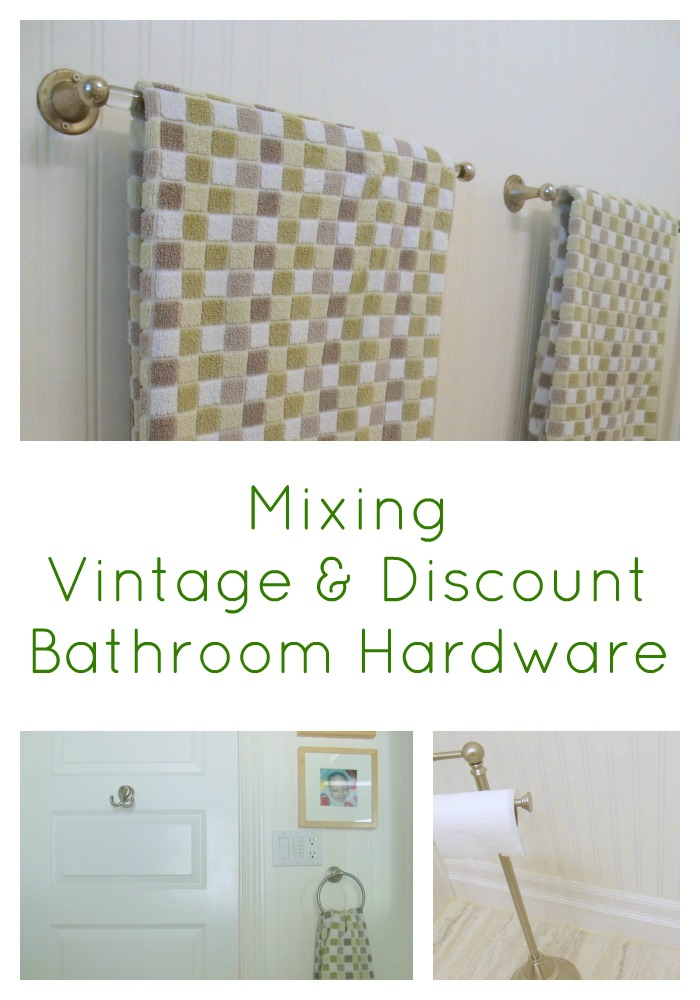 Saving Money Mixing Vintage And Discount Hardware In The Bathroom - Discount bathroom appliances