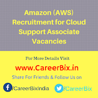 Amazon (AWS) Recruitment for Cloud Support Associate Vacancies