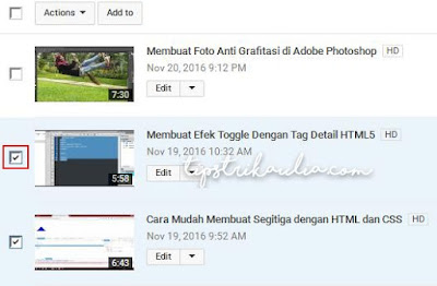 Cara Membuat Playlist pada Channel YouTube