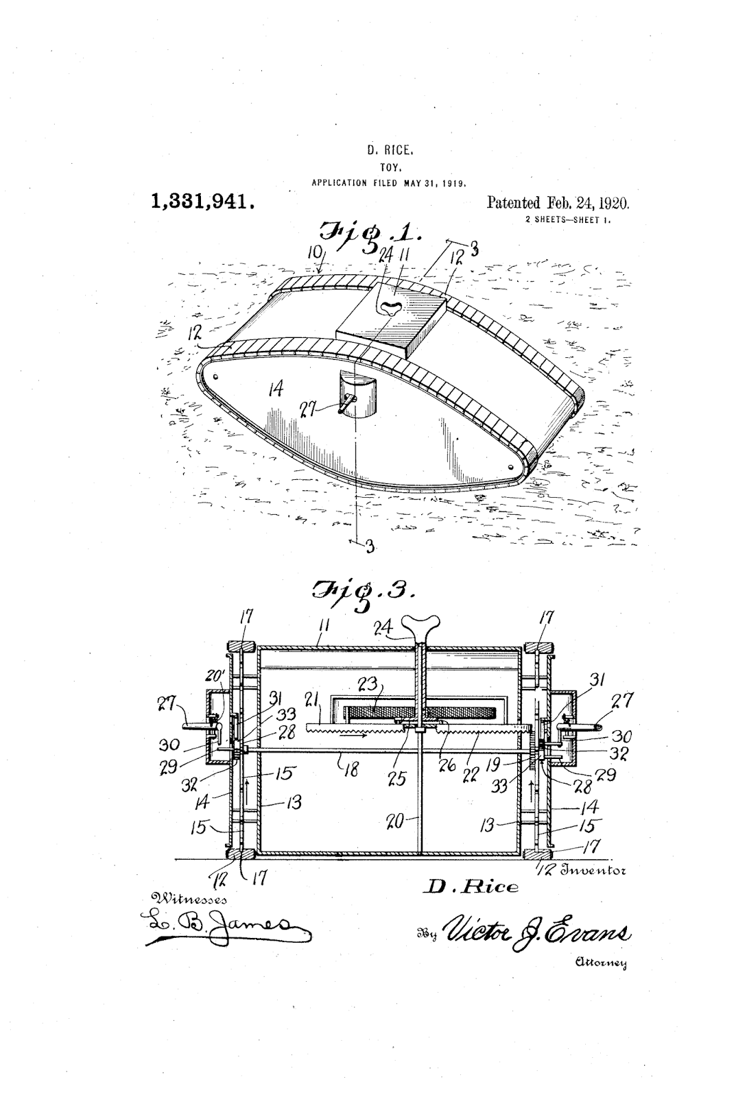 THE PATENT SEARCH BLOG: Toy tank inventions from World War I