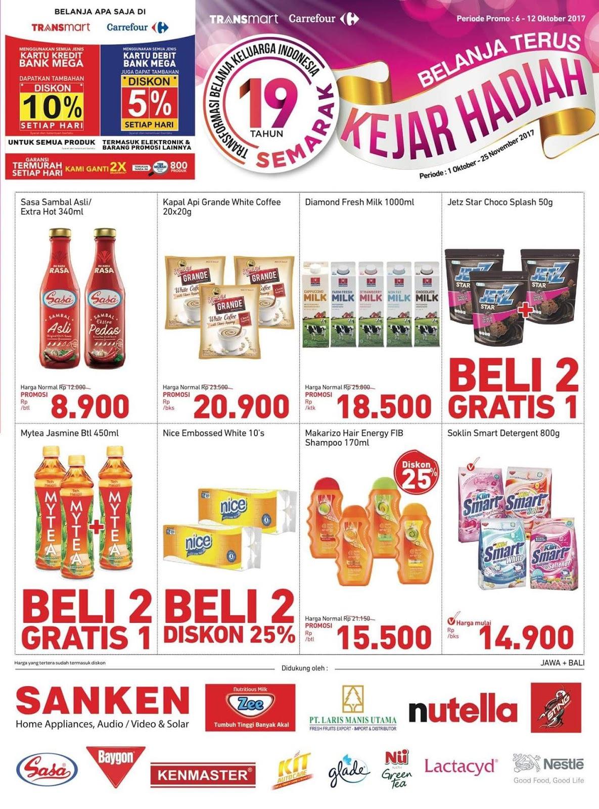 Promo Transmart Carrefour Terbaru Semarak 19 Tahun Periode 06 12 Oktober 2017 Harga Diskon