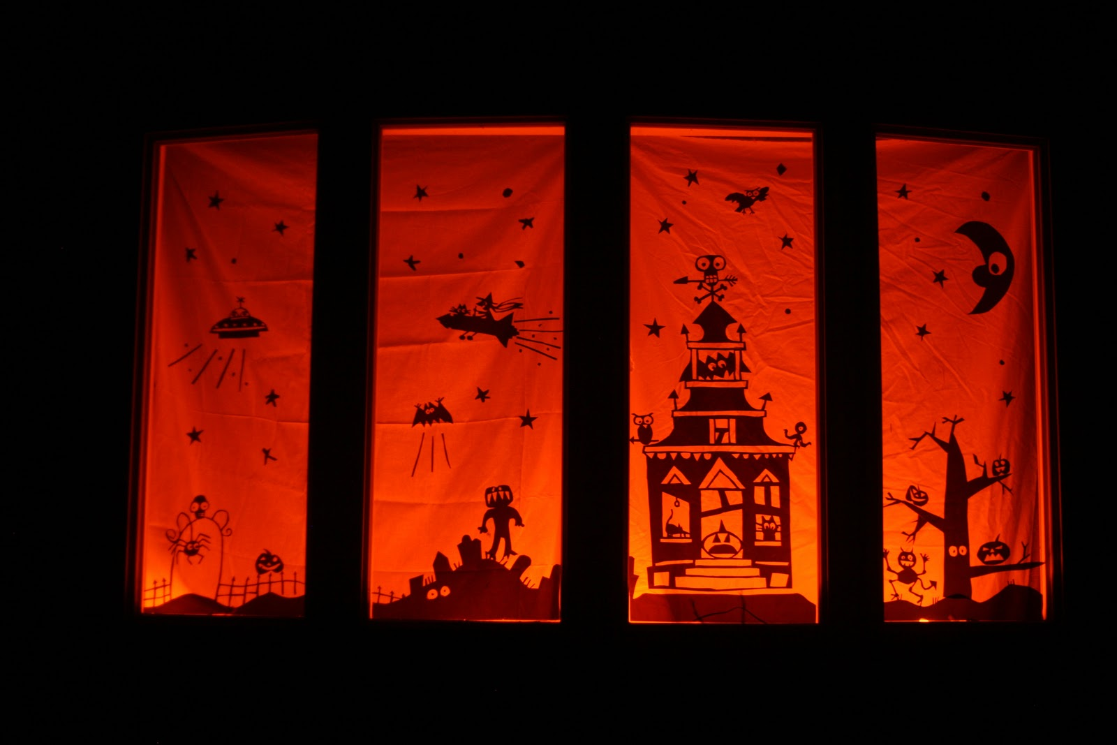 halloween window clings tutorial - Halloween Window Clings