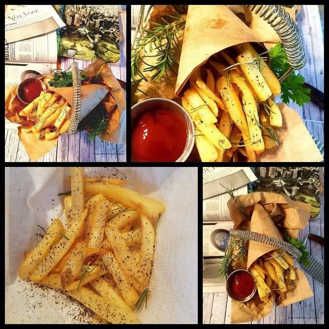 this is a collage of Italian seasoned french fries and how to make them recipe