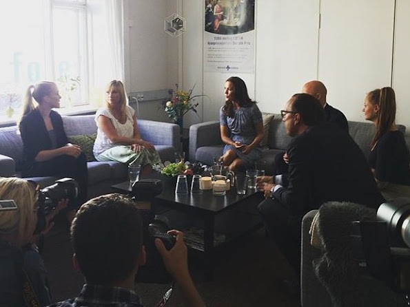 Crown Princess Mary visits the TUBA counselling and therapy institution for young people who are children of alcohol abusers