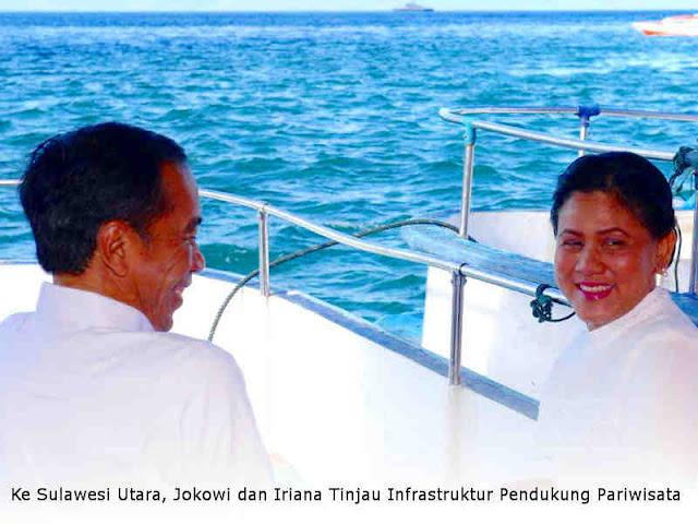 Ke Sulawesi Utara, Jokowi dan Iriana Tinjau Infrastruktur Pendukung Pariwisata