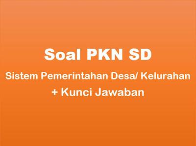 Soal PKN SD : Sistem Pemerintahan Desa/ Kelurahan & Jawaban
