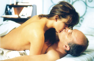 Sophie Marceau and John Malkovich in love scene from Beyond the Clouds