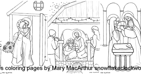 luminous mysteries coloring pages - photo#19