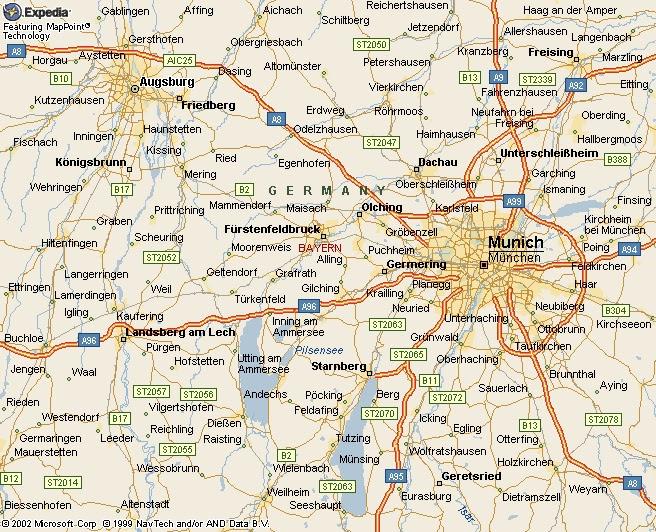 Landkreis Augsburg Karte.Augsburg Karte Stadt Region Karte Von Deutschland Stadt