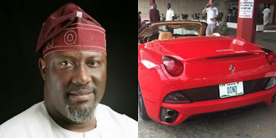 Photo of Dino Melaye and his Ferrari Convertible car