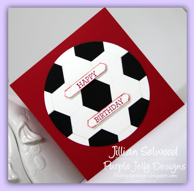 Football card for a boy, Real Red, Hexagon punch