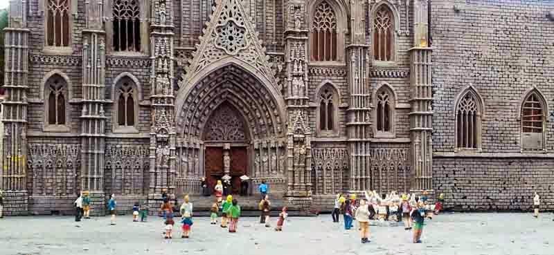Catalunya en miniatura: detalle de la Catedral de Barcelona
