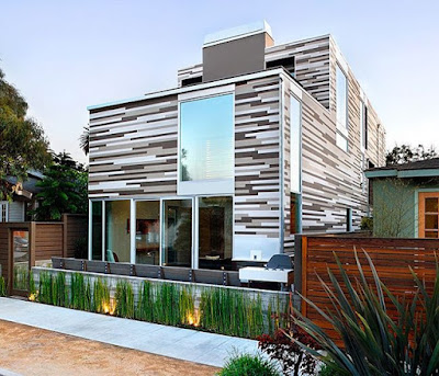 Awesome house front designs of polyurethane panels