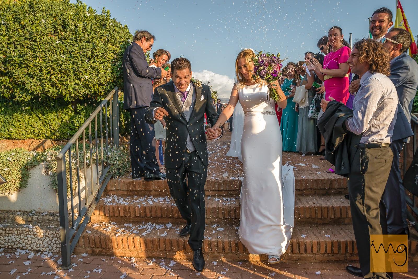 Fotografía del arroz en la boda