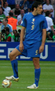 Toni was the No 9 for the Azzurri in the 2006 World Cup final