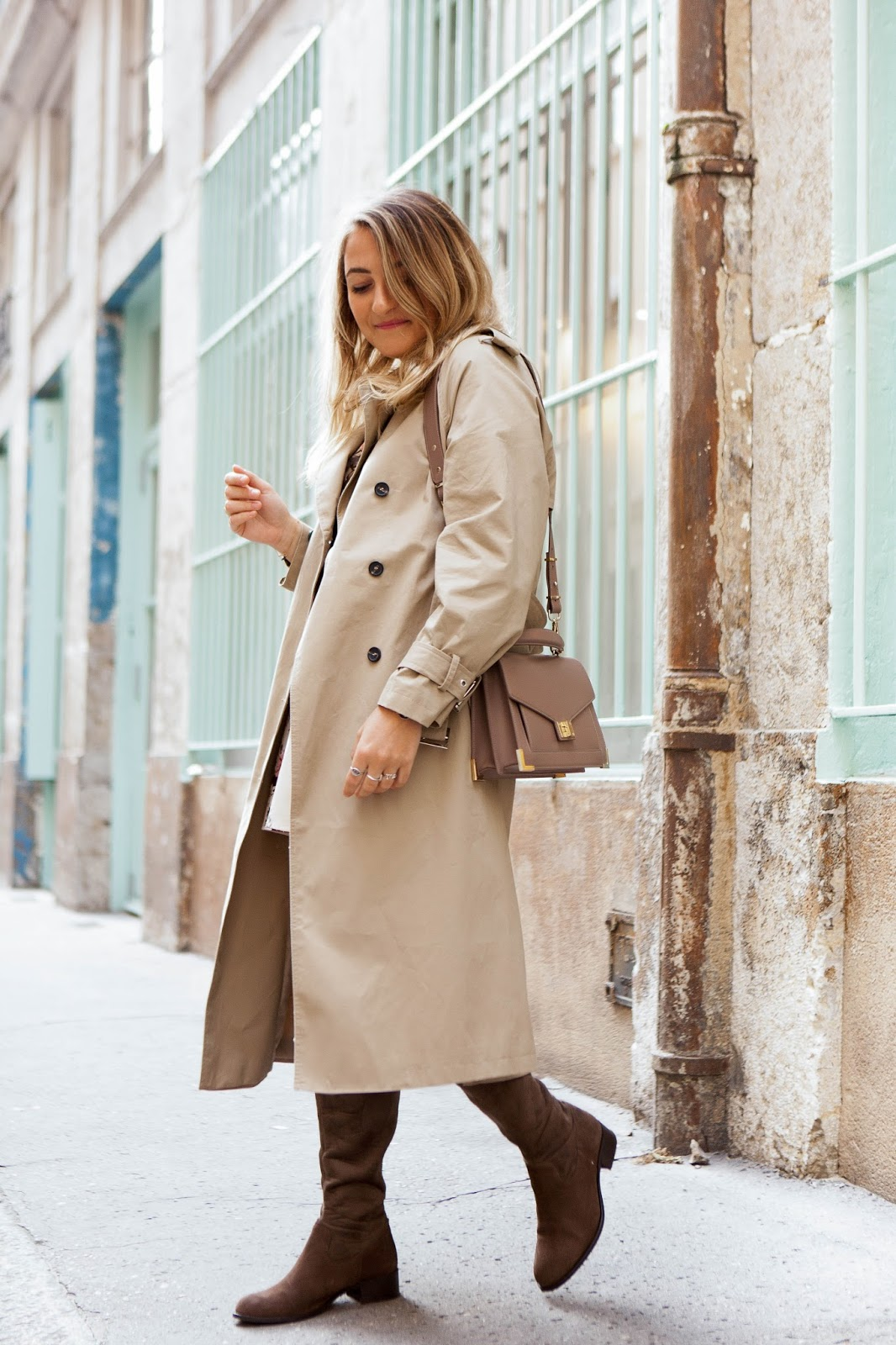 trench beige long New look parisgrenoble