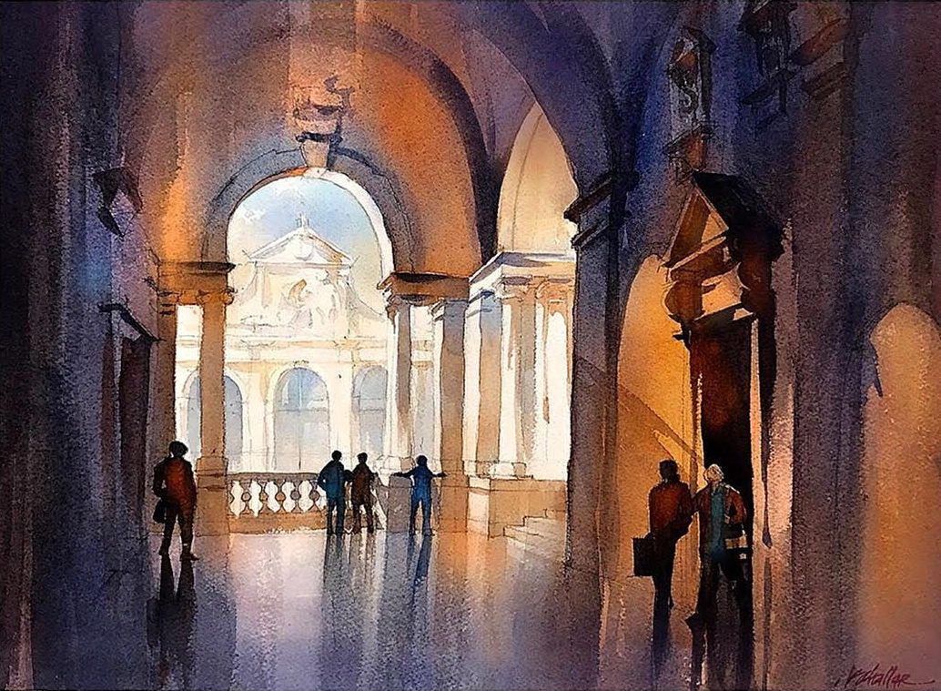 12-Shadows-of-Palladio-Italy-Thomas-Schaller-Watercolor-Paintings-Indoors-and-Outdoors-www-designstack-co