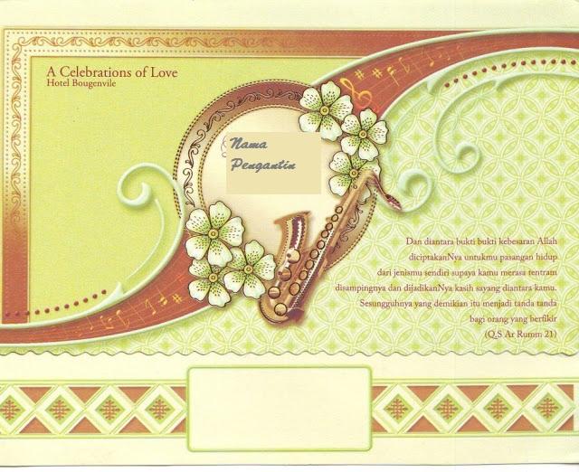 Contoh Desain Undangan Pernikahan - Mancing Info