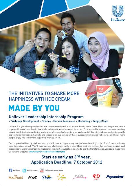 Unilever Leadership Internship Program 2012
