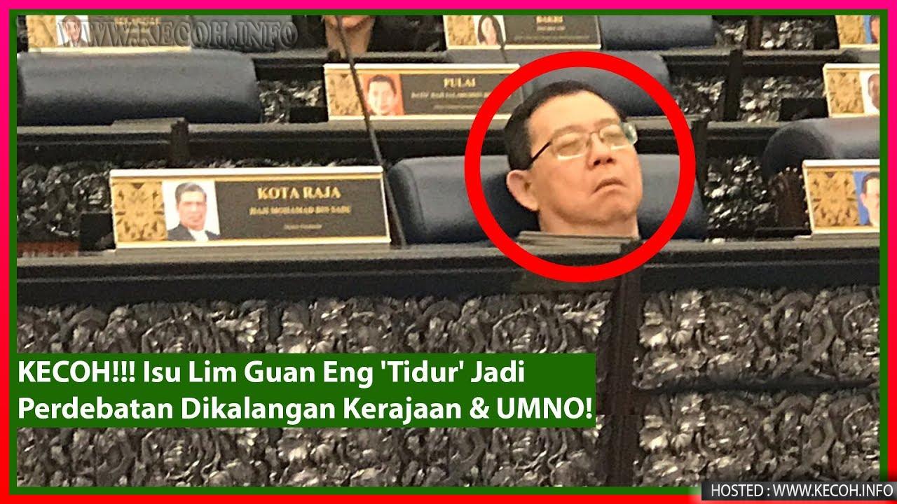 Menteri Kantoi 'Tidur' Dalam Parlimen Jadi Kecoh