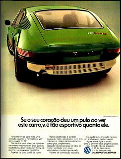 propaganda Volkswagen SP1 e SP2 - 1973, propaganda Volkswagen - 1973, vw anos 70, carros Volkswagen década de 70, anos 70; carro antigo Volks, década de 70, Oswaldo Hernandez,