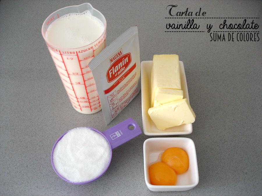 Tarta de vainilla y chocolate (Crema)