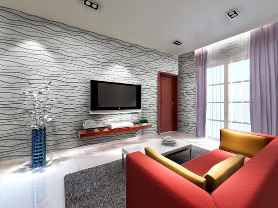 Decorative wall tiles.