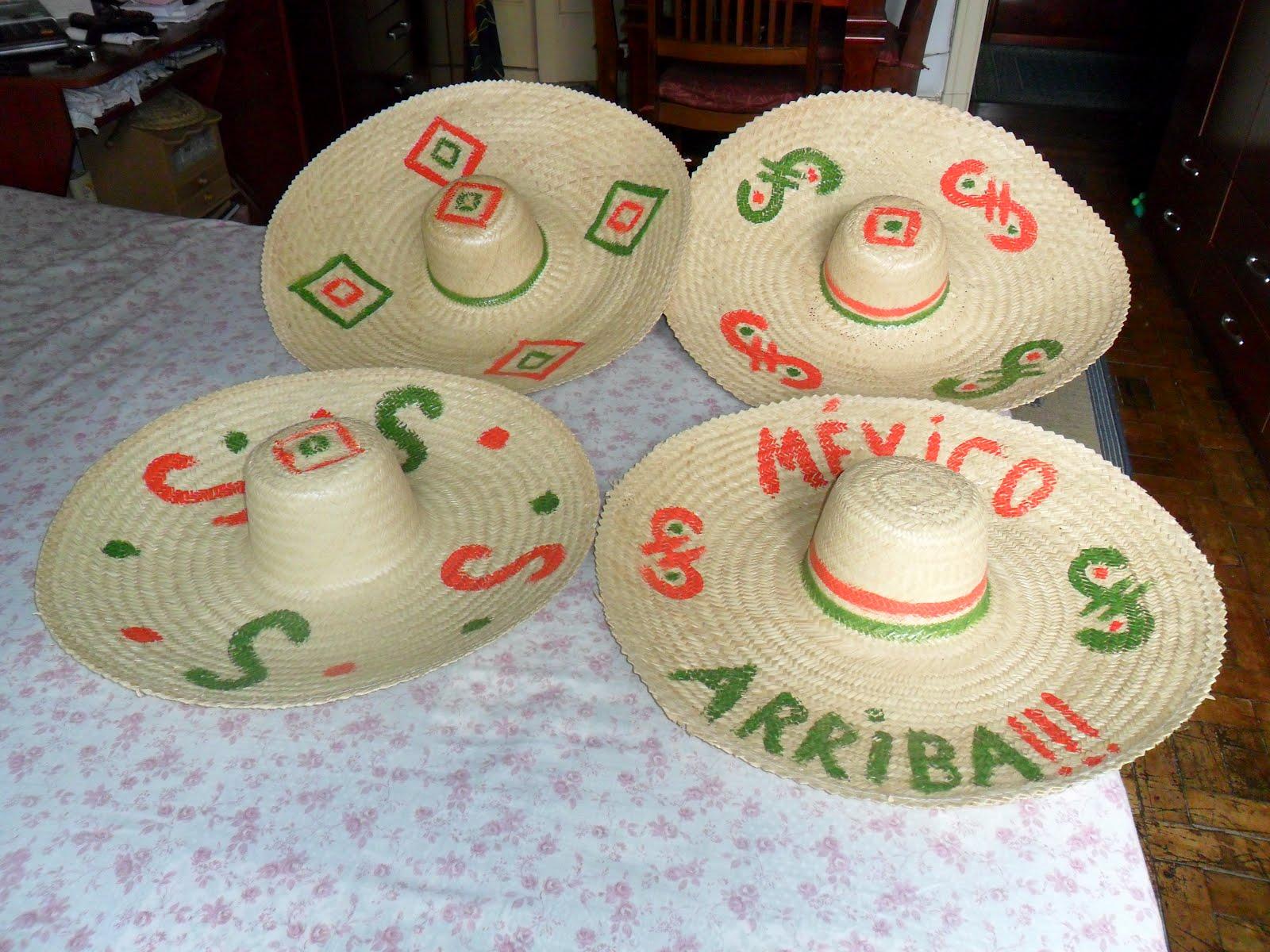 CHAPEUS MEXICANOS DE PALHAS PINTADOS Tels (11)3333-3697   Claro 97677-5588    E-mail  mexicoeventos terra.com.br 56d5efa1ba3