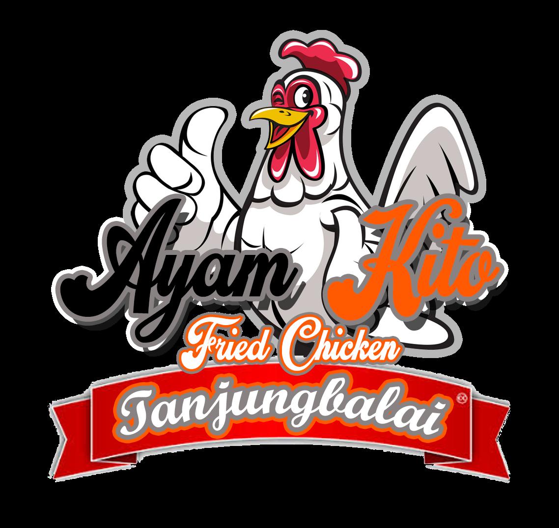 Desain Logo Ayam Kito Fried Chicken Tanjungbalai