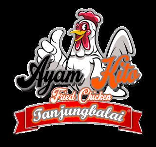 Contoh Desain Logo Ayam Kito Fried Chicken