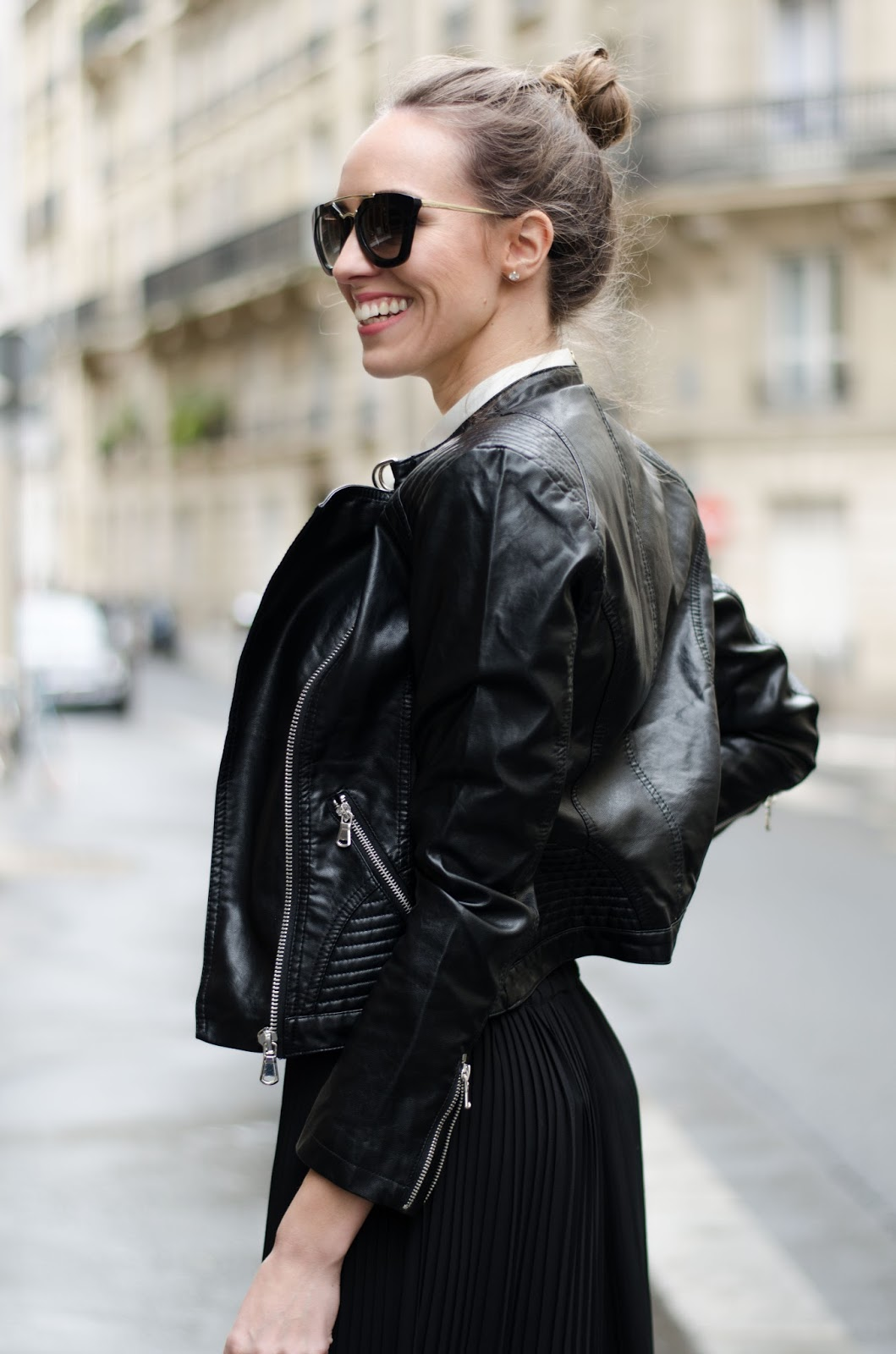 kristjaana mere leather jacket spring fashion