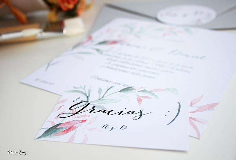 Acuarelas para diseño de invitaciones de boda y papelería